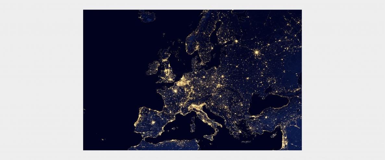 vue satellite de l'Europe