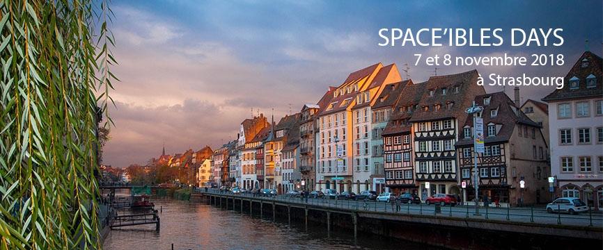 Ville de Strasbourg avec les dates des Space'ibles Days 2018